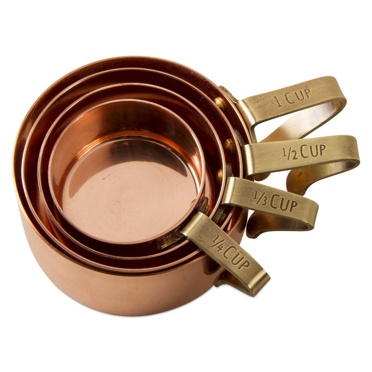 tag - Mercantile Measuring Cups, Perfect for Baking and Cooking, Antique Copper, Set of 4 by tag