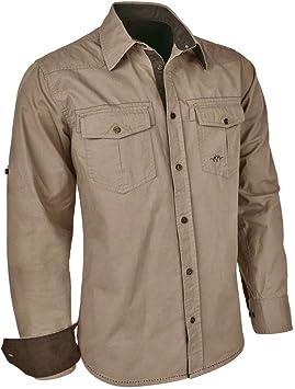 Blaser Alan Sarga Camiseta Camisa Camisa de Caza de Exterior para Hombre en la Arena, Color Arena, tamaño Large: Amazon.es: Deportes y aire libre