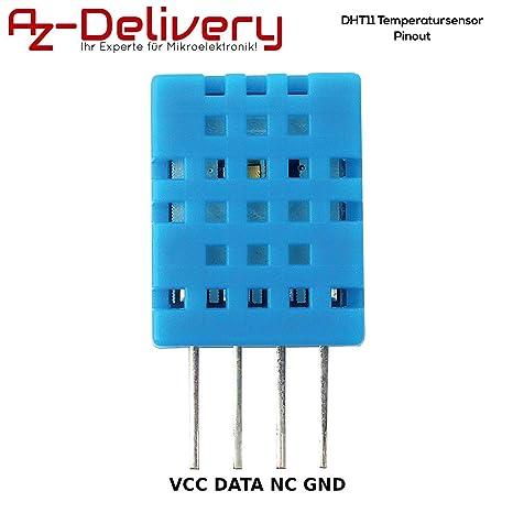 Bleu DHT11 Module de capteur dhumidit/é de temp/érature num/érique pour Arduino avec carte de c/âbles Dupont pour outil de bricolage /électronique Arduino