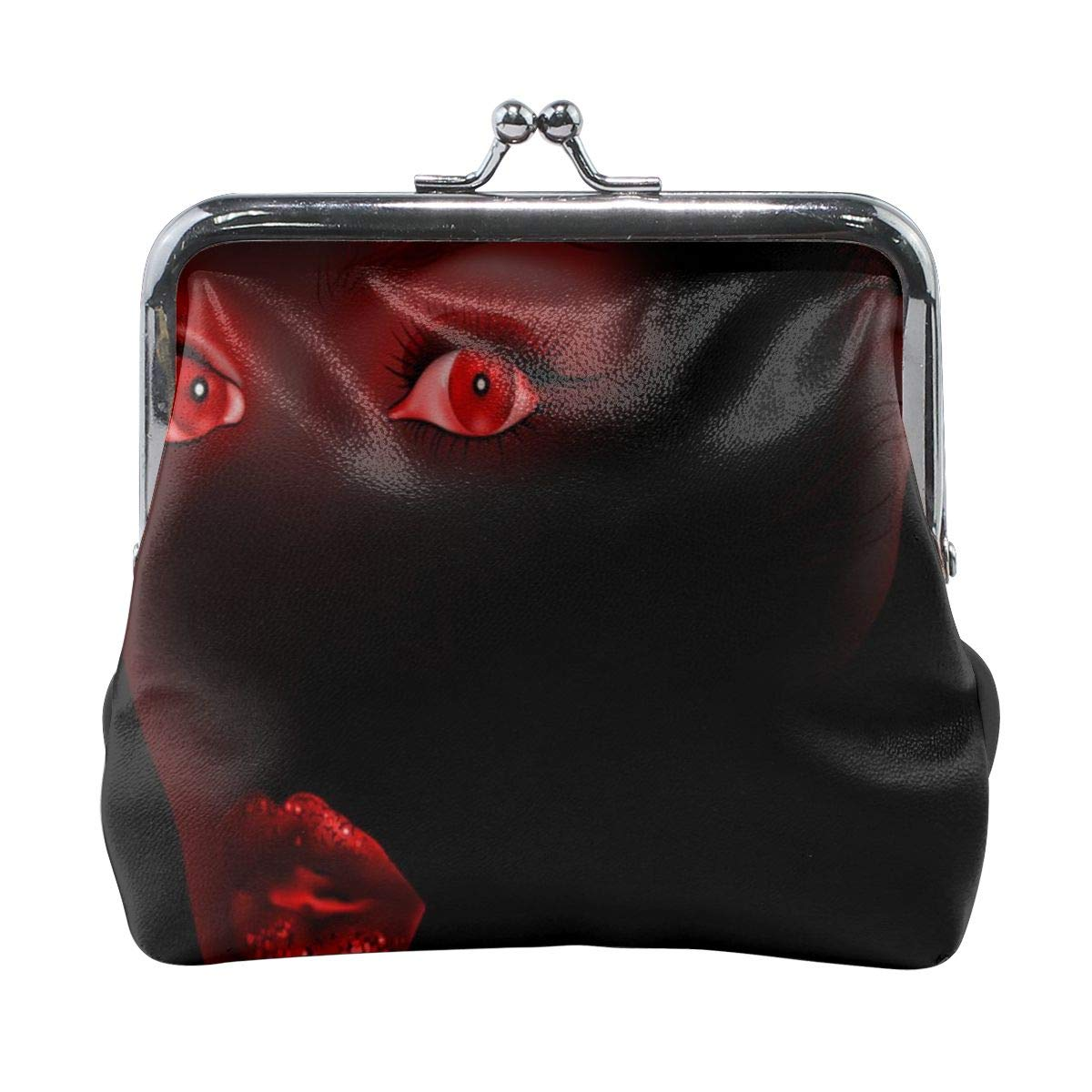 Yunshm Eyes In The Dark Customized Leather Classic Floral Coin Purse Clutch Pouch Wallet For Womens