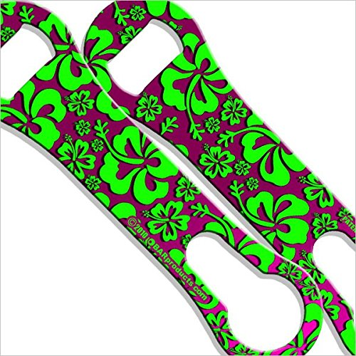 BarConic Hawaiian Pink and Green Kolorcoat V-rod Bottle Opener For Sale