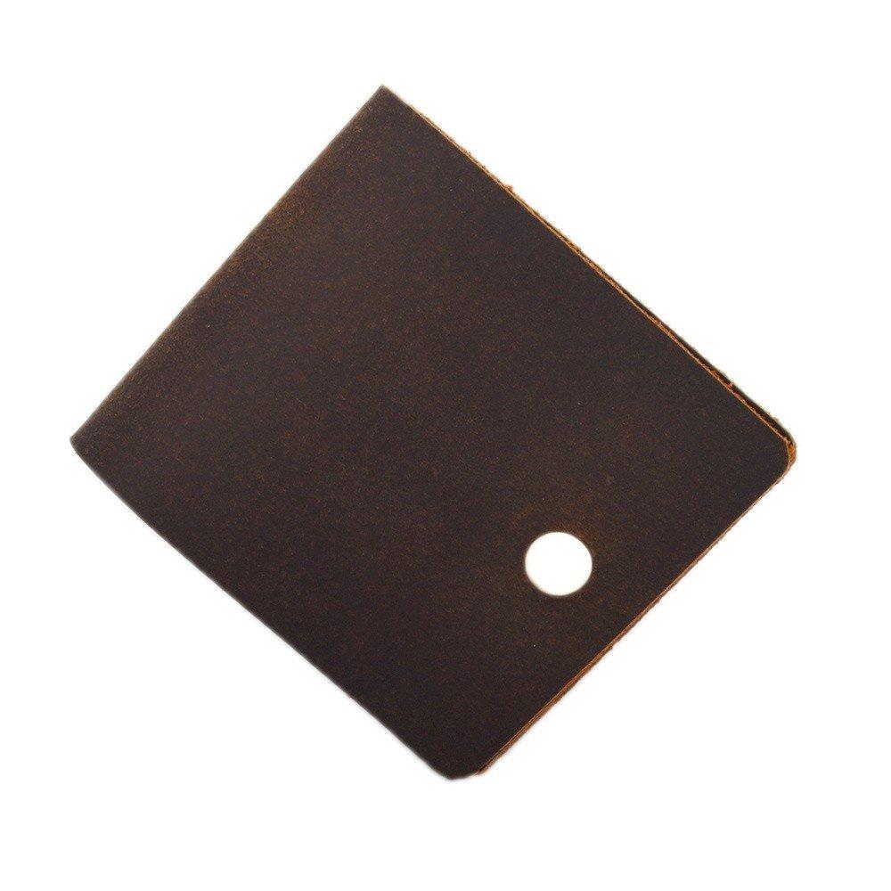 Wallet Handbag, Hand Brushed, Leather, Leather, 80 Percent Off, Brown Men.