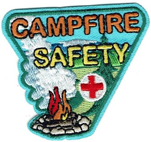 Cub Girl Boy CAMPFIRE SAFETY Embroidered Iron-On Fun Patch Crests Badge Scout Guides