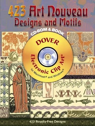 423 Art Nouveau Designs and Motifs (Dover Electronic Clip Art) (CD-ROM and ()
