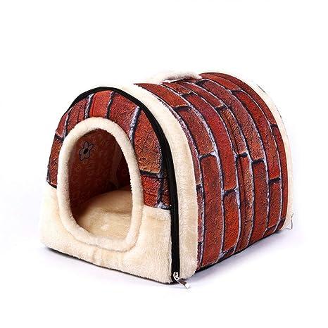 WEATLY Cama extraíble Lavable para Mascotas Cama para Gatos Jaula para Perros Jaula para Perros (