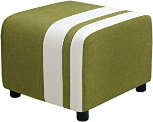 QQXX ZHANGQIANG Faux Leather Ottoman, Padded Foot Stool, Cube Bench Seater for Living Room, Bedroom & Office, 150Kg (Color : Green, Size : 50 45 40cm)