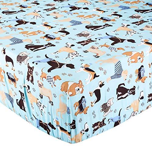 Baby Boys Dog - Crib Sheet Toddler Sheet 1 Pack 100% Cotton for Baby boy Dog Pattern Crib Sheet by UOMNY