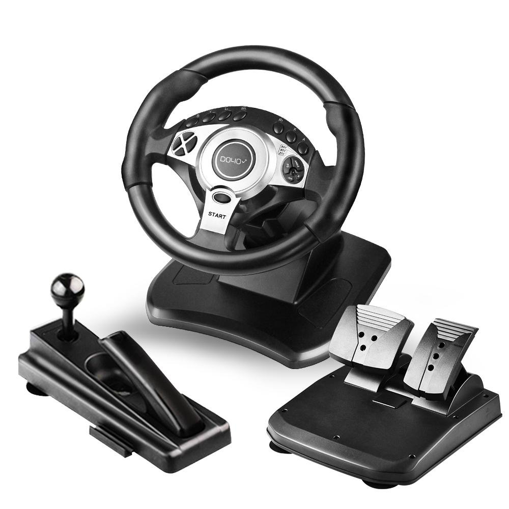 DOYO 900 Degree Rotation Pro Sport Racing Wheel for Multi Platform Compatible PS3/PS4/XBOX ONE/XBOX360/NS SWITCH/Android