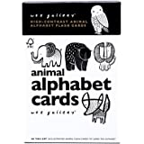 Wee Gallery Animal Alphabet Cards, High Contrast for Visual Development