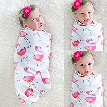 Amazon.com  Floweryua Baby Bath Bedding Swaddle Flamingo Towel Receiving  Blanket Newborn  Baby 9cfbfccc6