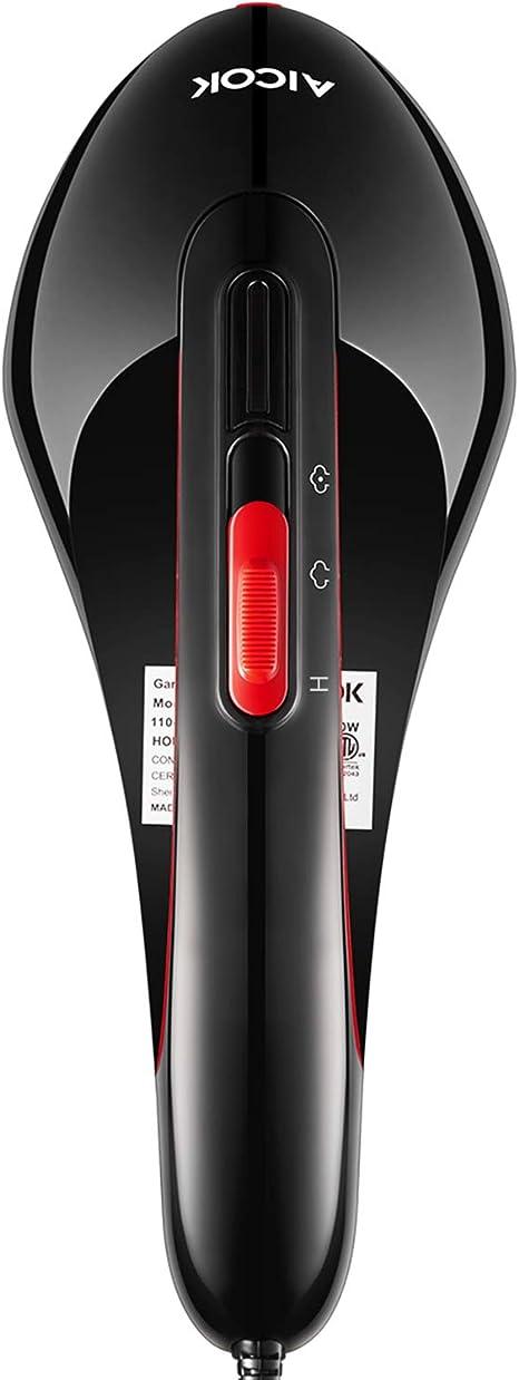AICOK Plancha Ropa Vapor Vertical, 1500W Vaporizador de Ropa con Vapor Doble, 15s Calentamiento Rápido, Vertical y Horizontal, Desmontable Tanque de Agua, Portátil para el Hogar y Viaje: Amazon.es: Hogar