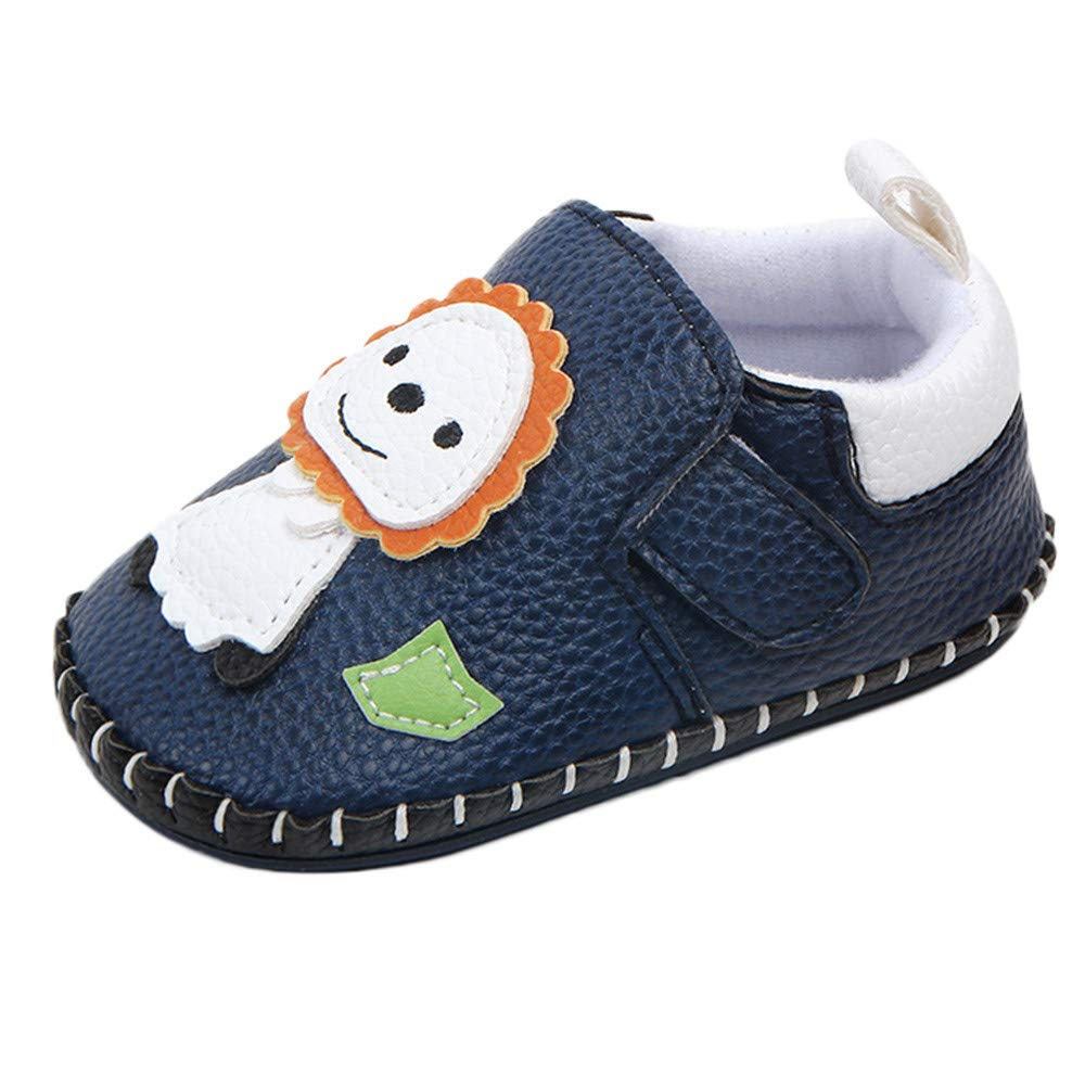 PENGYGY Cute Infant Baby Boys Girls Shoes Newborn Cartoon Animals Lion First Walker Toddler Shoes