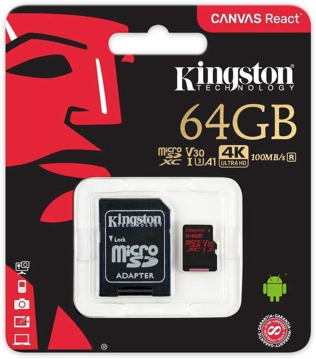 80MBs Works with Kingston Professional Kingston 64GB for Xiaomi M2003J15SC MicroSDXC Card Custom Verified by SanFlash.