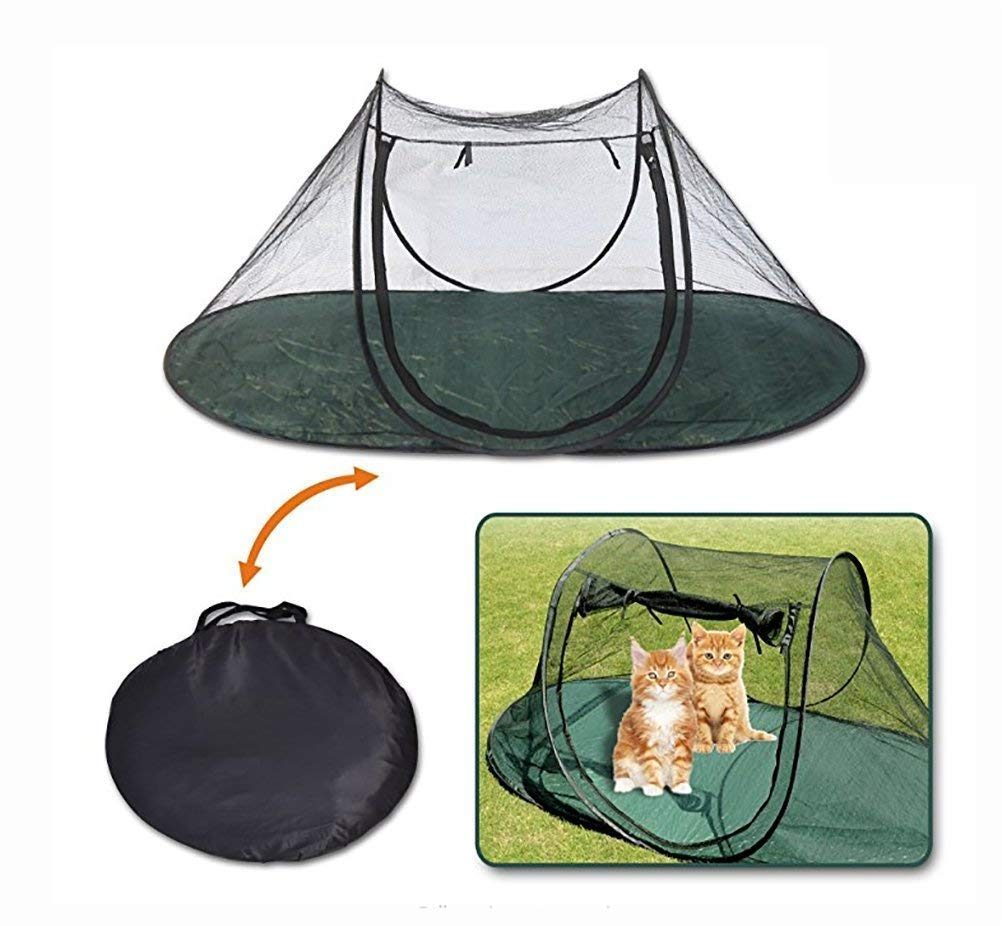 IF.HLMF Pet Tent Fun House Cat Dog Playpen Feline Portable Exercise Tent With Carry Bag