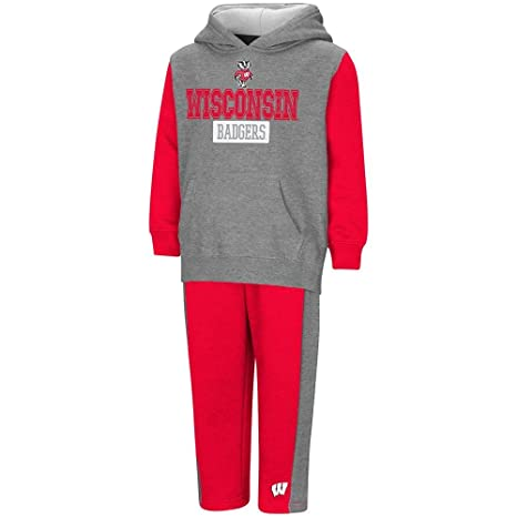 9bbfd2a14f Colosseum Toddler Wisconsin Badgers Pull-Over Hoodie and Sweatpants Set - 2T