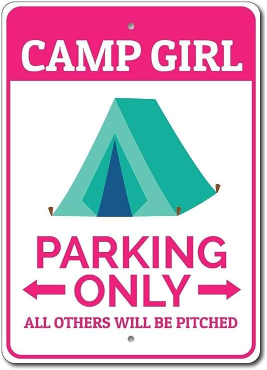 HNNT Cartel de estacionamiento para niña de Campamento de ...