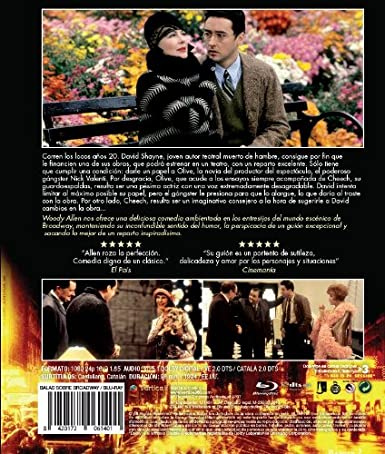 Amazon.com: Bullets Over Broadway (1994) [ Blu-Ray, Reg.A/B/C Import - Spain ]: Movies & TV