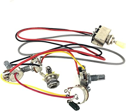 gibson wiring harness amazon com greenten wiring harness prewired 2v2t 3 way toggle gibson sg wiring harness greenten wiring harness prewired 2v2t 3