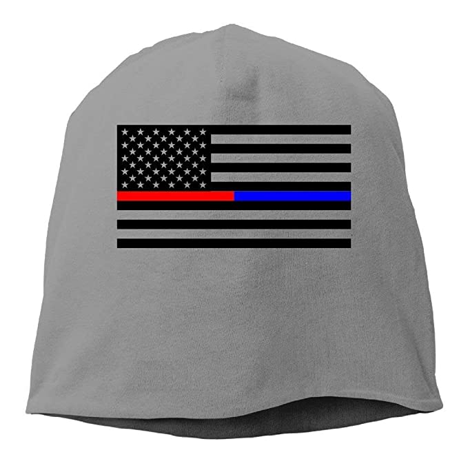American Flag Thin Blue Line Thin Red Line.PNG Unisex Casual Fashion Durable Winter Warm Knitted Beanie Hat Cap: Amazon.es: Ropa y accesorios