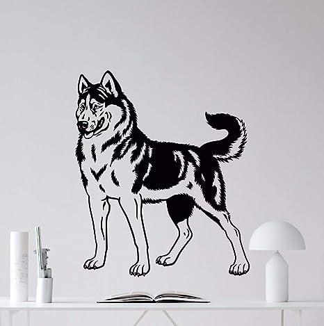 Decoración para el hogar Perro Husky Tatuajes de Pared de ...