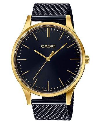 Casio Reloj Analogico para Mujer de Cuarzo con Correa en Acero Inoxidable LTP-E140GB-1AEF: Amazon.es: Relojes