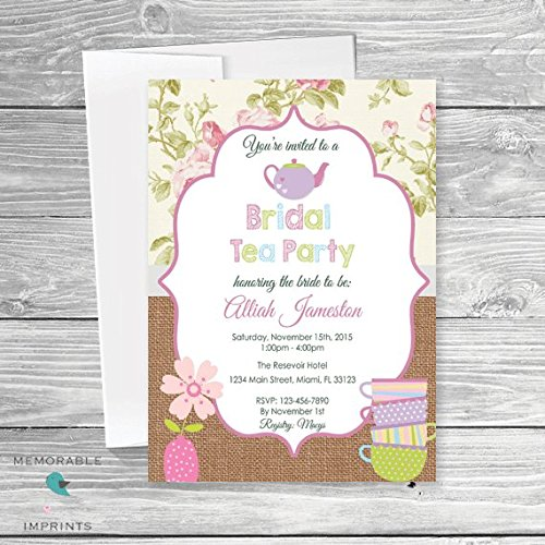 Amazon bridal shower tea party invitation tea party bridal bridal shower tea party invitation tea party bridal shower invitation shabby chic bridal shower filmwisefo Images