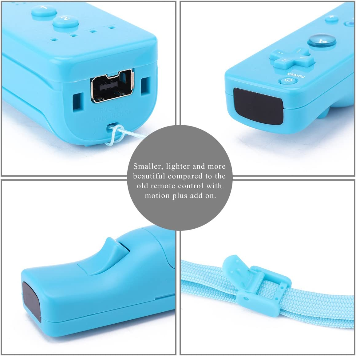 Winbang Gamepad kabellos f/ür Wii-Controller mit Fernbedienung