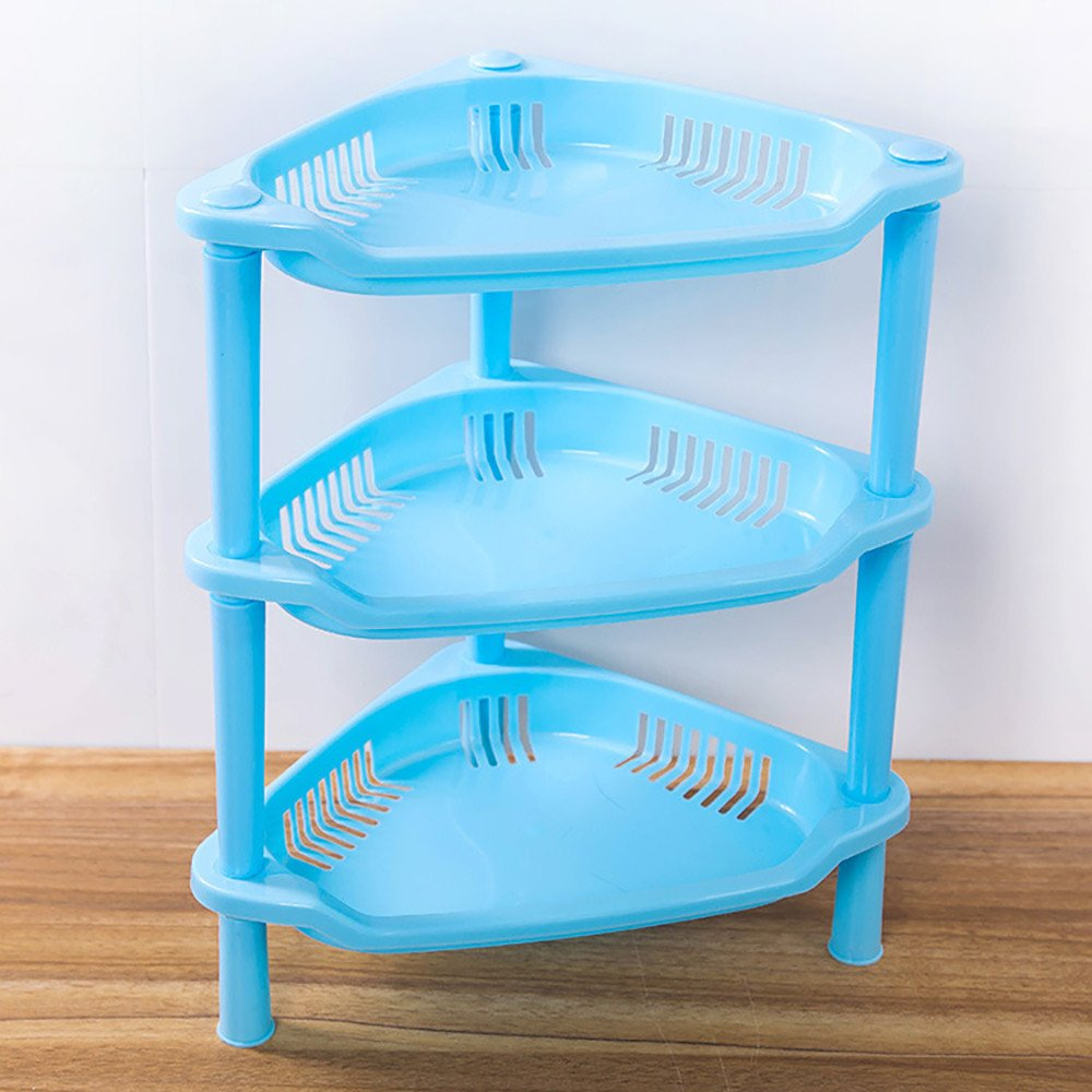 Amazon.com: 3 Tier Plastic Corner Organizer, LUCA Bathroom Caddy ...