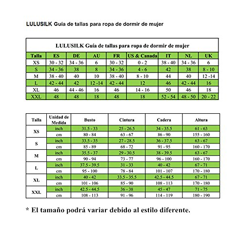 LULUSILK Camisón de Seda 19 Momme Correas de Espagueti Escote Cruzado para Mujeres Verde Claro