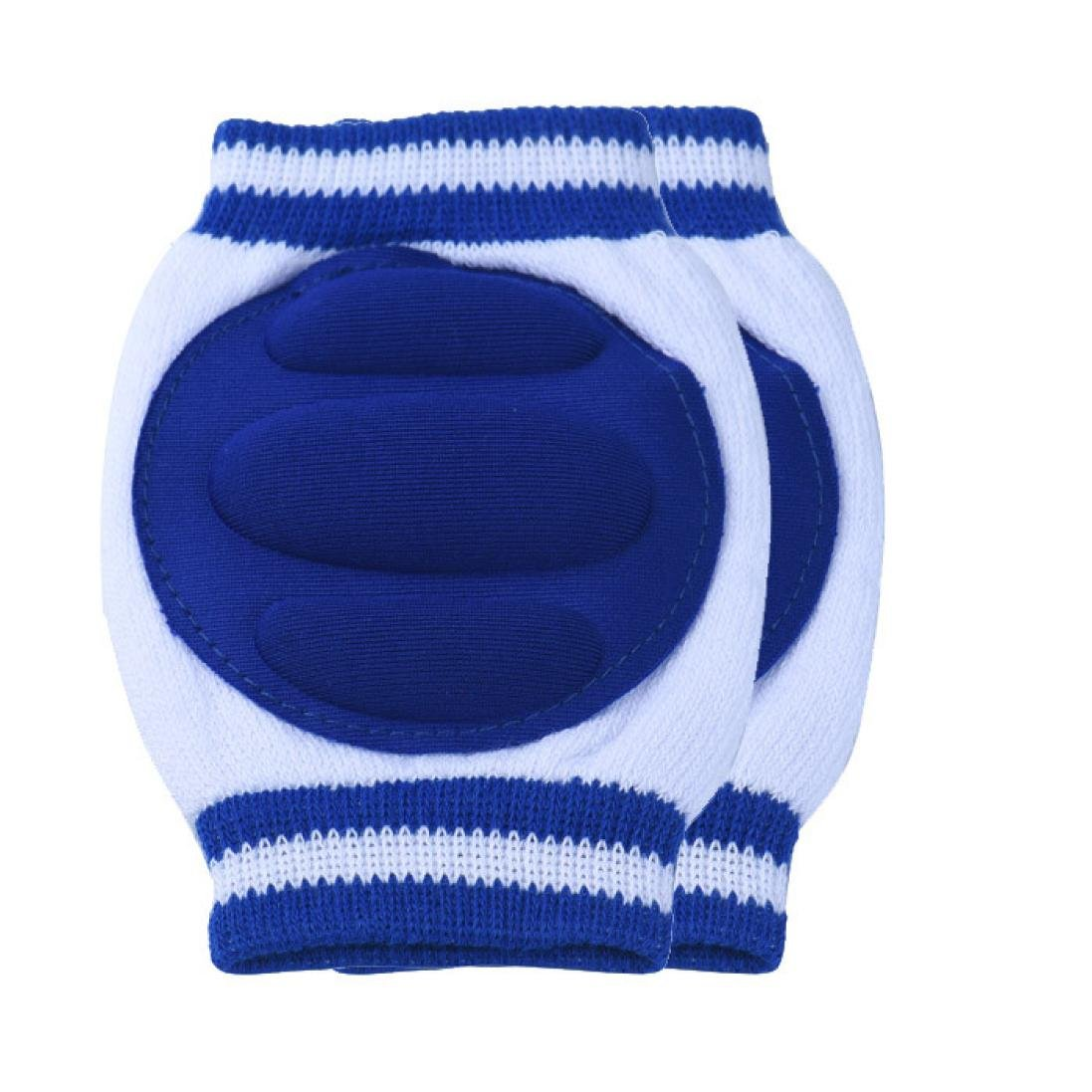 Fulltime(TM) 1 Pair Infant Toddler Baby Knee Pad Crawling Safety Protector Elbow Pads (DARK BLUE) F-U191
