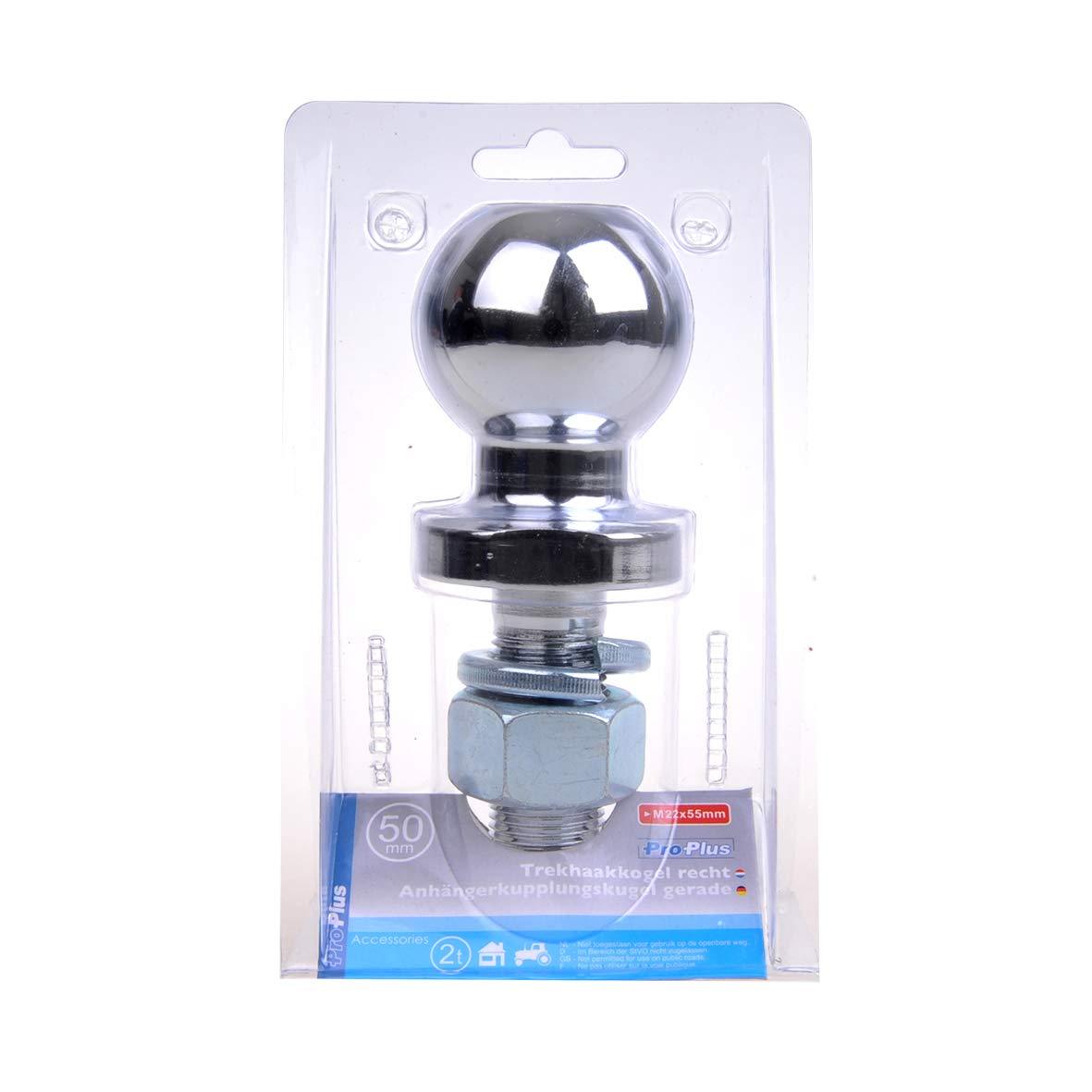 timtina Trailer Coupling Ball 50/mm 3.5t Ball Head Stud Straight Tractor Linkage Drawbar