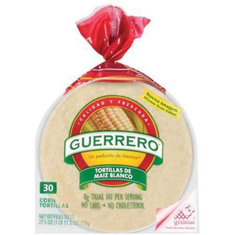 Guerrero Corn Tortillas 30ct, 27.5oz, 4 packages