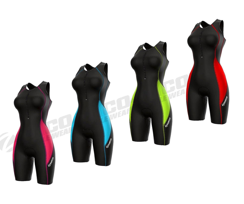 Zimco Elite Women Compression Triathlon Suit Skin Racing Tri Short Swim Zimco Cycle Wear