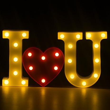 i love you light romantic light up i love you sign led letter lights marquee alphabet