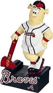 Evergreen MLB Atlanta Braves Mascot DesignGarden Statue, Team Colors, One Size