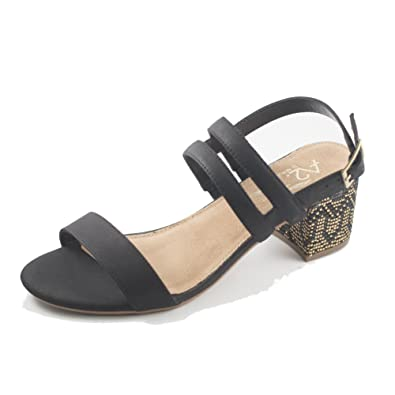 5669afa2a27e9 Aerosoles Womens Mid Size Open Toe Casual Strappy Sandals, Black, Size 6.0