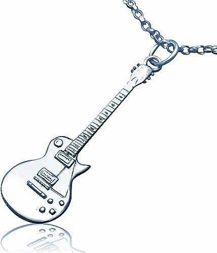 Plata de ley de réplica de la guitarra eléctrica Gibson Les Paul ...