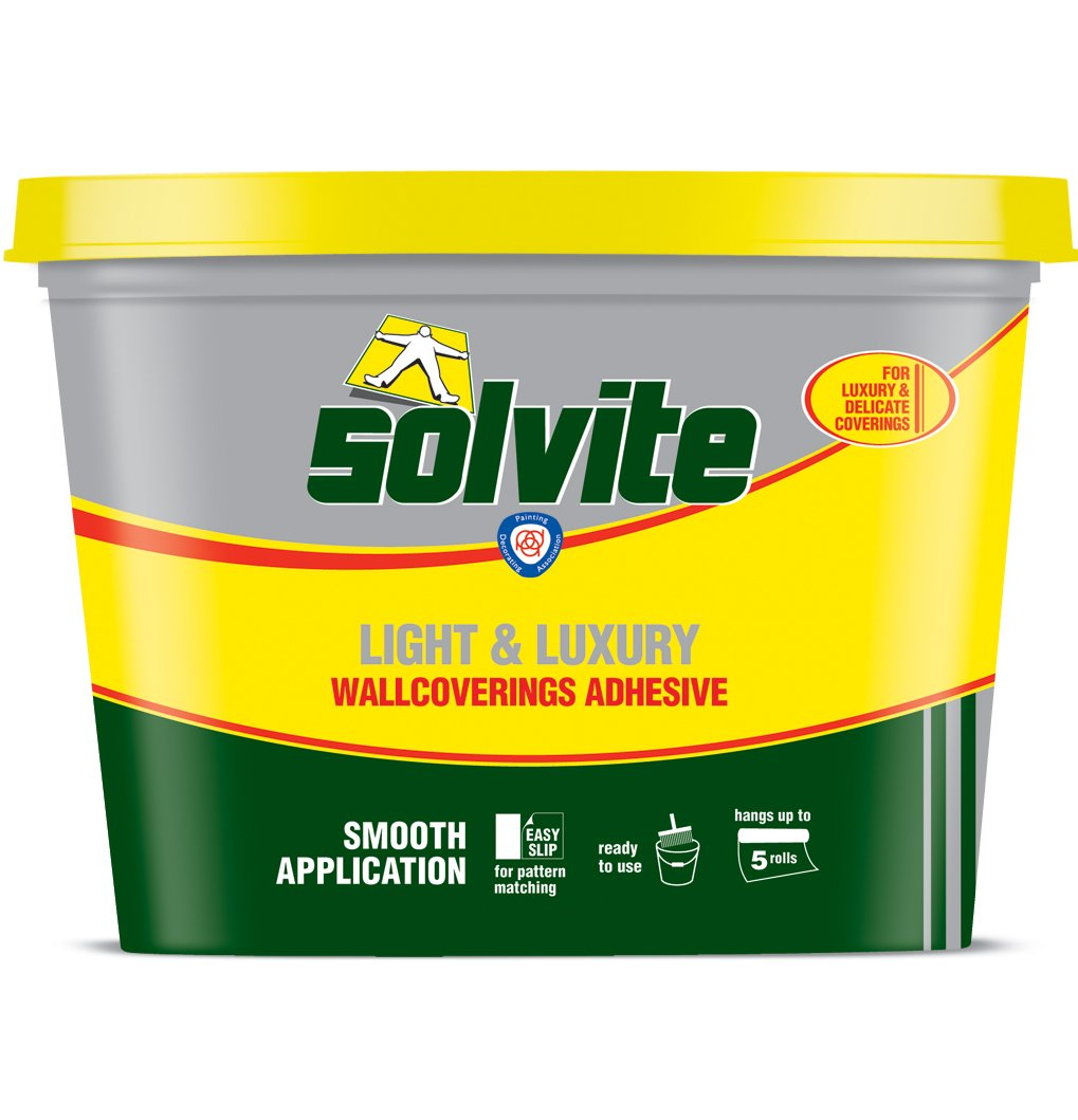 Solvite Light Grade Ready Mixed Wallcoverings Adhesive, Hangs up to 5 Rolls (Discontinued by Manufacturer (Old Version)) Henkel 1273500