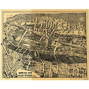 1910 Birds eye map of Maplewood, New Jersey Birds-eye-view of Maplewood, N.J. Dr