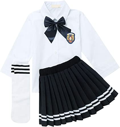 12 Months Shirt with Bowtie /& Pleated Skirt 7 Years SANGTREE Girls Outfit