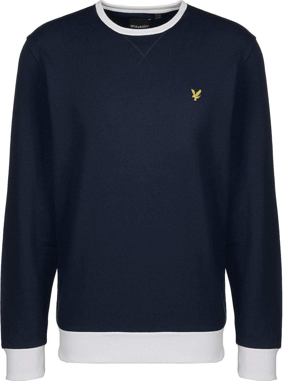 Mens Lyle and Scott Contrast Sweatshirt in Navy