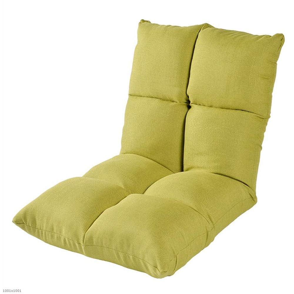 Green Seat Cushion Lazy Couch Tatami Bed Backrest Balcony Bay Window Folding Cushion Sofa Chair Foldable Single Small Sofa,Purple Chair Pad (color   Darkcoffeecolor)