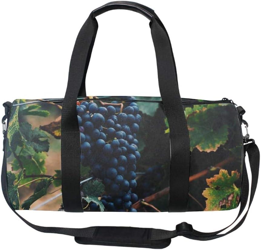 Black Currant Gym Duffle Bag Drum tote Fitness Shoulder Handbag Messenger Bags