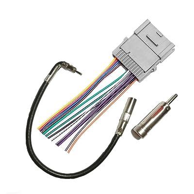Car Stereo Radio Wiring Harness for Chevy Chevrolet 2003 2005 Silverado 2003-2006 Pontiac 02-05 SSR 2002-2004 S10 Pickup 2003-2006 Tahoe 2005-2009 Trailblazer 2000-2008 Uplander 2000-2005 Venture Van: Car Electronics