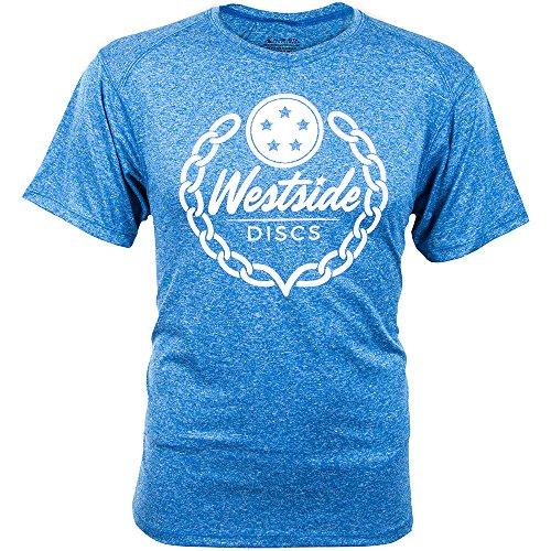 Westside Discs Logo Dri-Fit Short Sleeve Performance Disc Golf T-Shirt - Royal Blue - M
