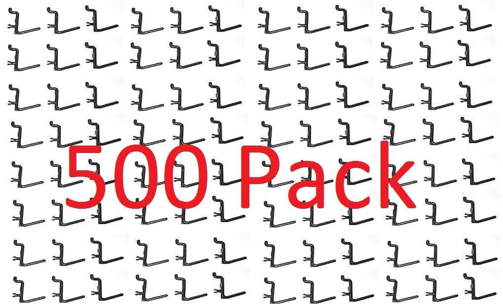 Pegboard Plastic L-Hooks Storage Garage Organizer Tool (500)