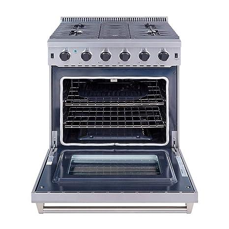 thor kitchen 30 stainless steel gas range oven with 5 burner lrg3001u - Thor Kitchen
