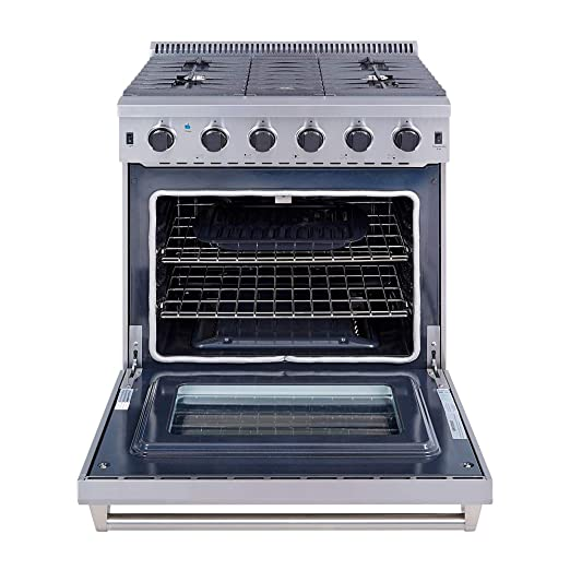 Thor Kitchen 30 Stainless Steel Gas Range Oven With 5 Burner Lrg3001u