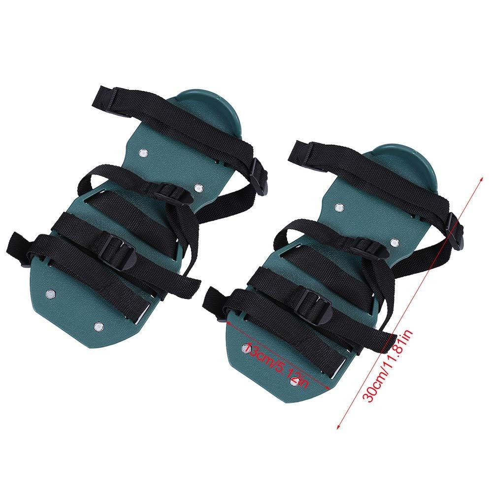 4 Straps Chaussures de Gazon Avec 3 ou 4 Sangles Patins A/érateurs de Pelouse Jardin R/églables Outillage de Jardin