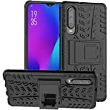 Olixar for Huawei P30 Protective Case - Tough Armour - Heavy Duty Cover - ArmourDillo - Built in Stand - Wireless Charging Compatible - Black - (P30 2019)